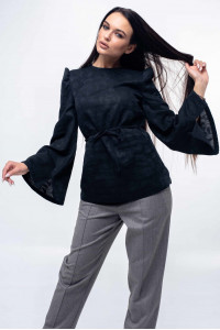 Блуза «Дженни» черного цвета