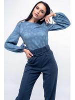 Блуза «Дженни» голубого цвета