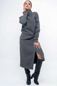 Юбка «Лорена» серого цвета