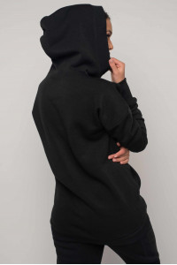 Свитшот «Рокси-Зима» черного цвета