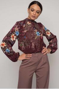 Блуза «Бруна» бордового цвета