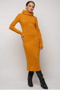 Платье «Арктика» горчичного цвета
