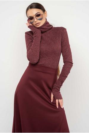 Гольф «Бэйс-Лонг» цвета бордо с люрексом