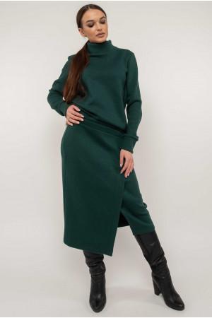 Костюм «Лорена-вязка» зеленого цвета