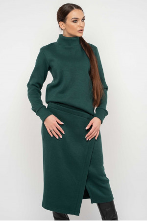 Юбка «Лорена-вязка» зеленого цвета