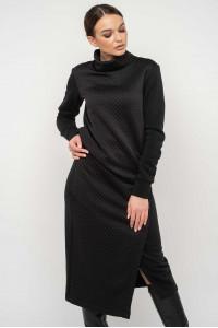 Юбка «Лорена-стеганка» черного цвета