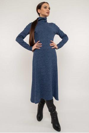 Платье «Эрика» синего цвета с люрексом