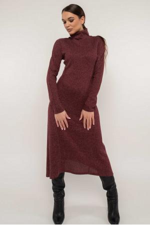 Платье «Эрика» цвета бордо с люрексом