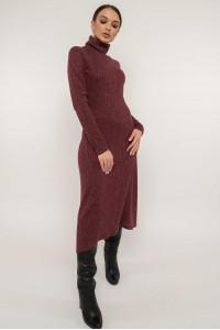 Сукня «Еріка» кольору бордо з люрексом