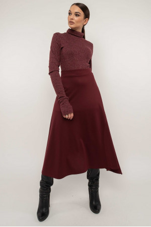 Спідниця «Лінель» кольору бордо