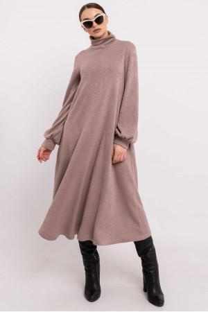 Платье «Джейзи» серо-бежевого цвета