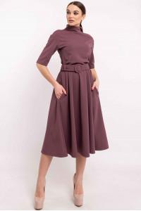 Сукня «Стелла» кольору баклажан