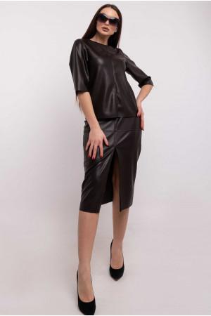Блуза «Полин» цвета горького шоколада