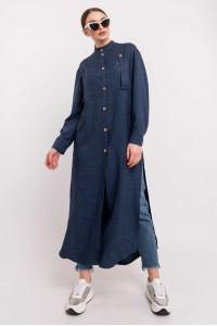 Рубашка «Шерити» темно-синего цвета