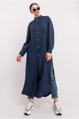 Сорочка «Шеріті» темно-синього кольору