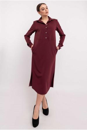 Платье «Тенди» цвета бордо