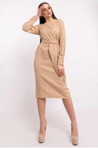 Платье «Леонила» бежевого цвета