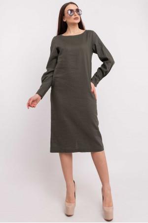 Платье «Леонила» цвета хаки