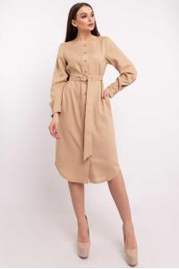 Платье-рубашка «Леонила» бежевого цвета