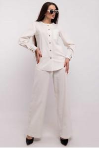 Блуза «Леонила» молочного цвета