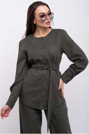Блуза «Леоніла» кольору хакі