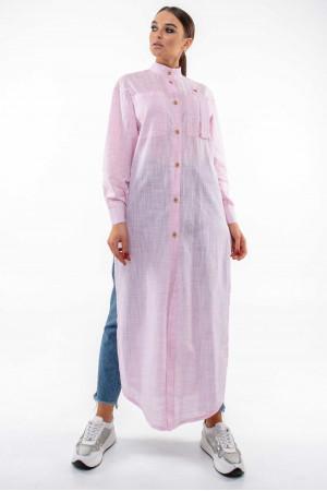 Рубашка «Шерити» розового цвета
