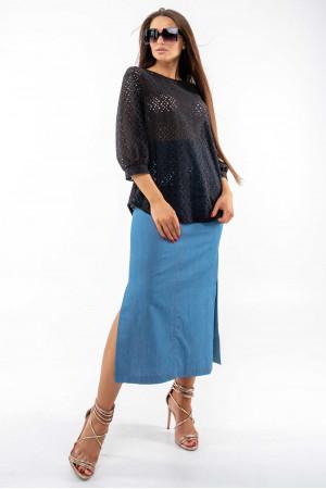 Блуза «Стефані» чорного кольору