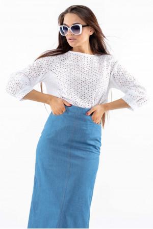 Блуза «Стефані» білого кольору