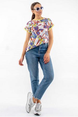Блуза «Джулс» білого кольору з принтом