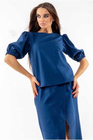 Блуза «Барли» темно-синего цвета