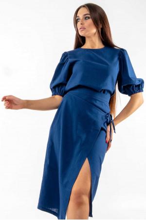Блуза «Барлі» темно-синього кольору