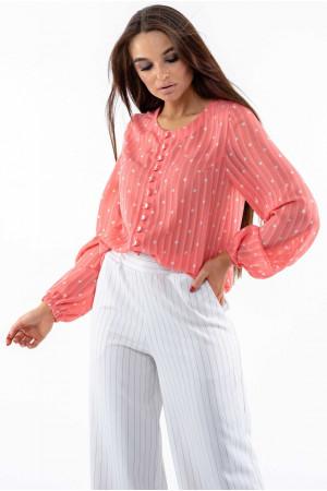 Блуза «Донна» коралового кольору