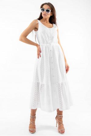 Сарафан «Мариса» белого цвета