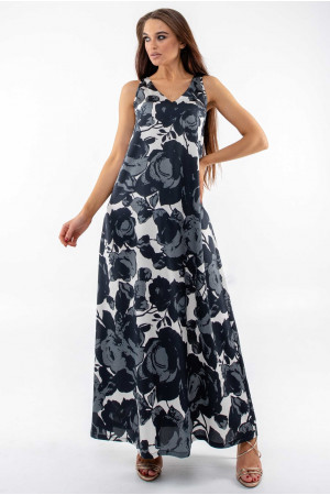 Сарафан «Алиша» черно-белого цвета