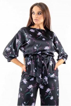 Блуза «Бейлі» чорного кольору