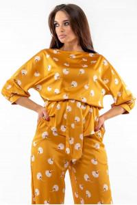 Блуза «Бейли» золотистого цвета