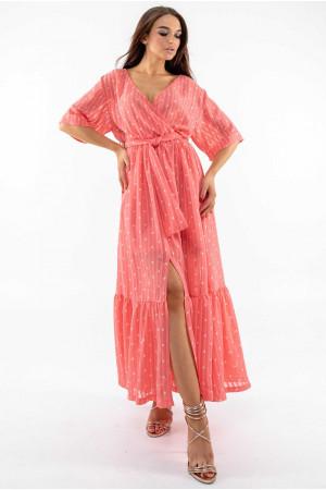 Платье «Барбара» кораллового цвета