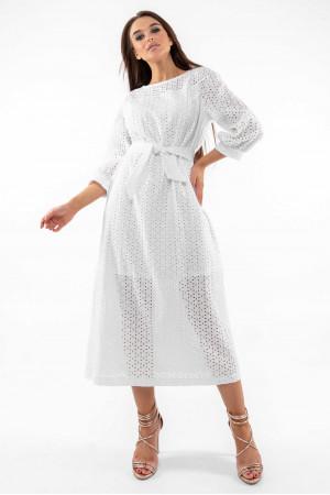 Платье «Стефани» белого цвета