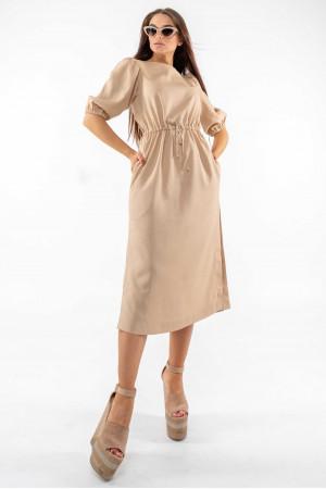 Платье «Глоу» бежевого цвета