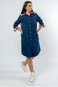 Сукня «Графіті» темно-синього кольору