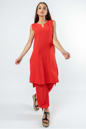 Туника «Мириам» красного цвета