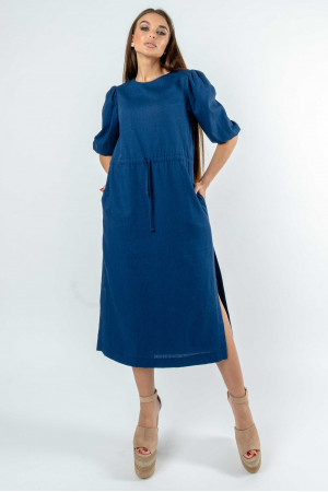 Платье «Глоу» темно-синего цвета
