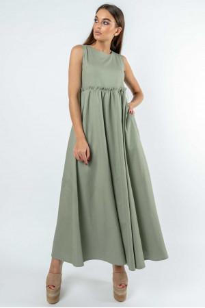 Платье «Лилиан» оливкового цвета