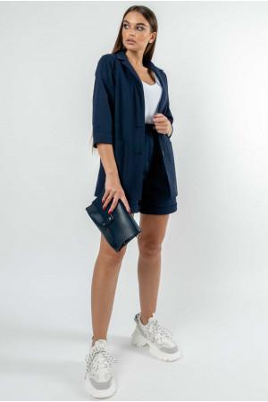 Пиджак «Криспи-лен» цвета черники