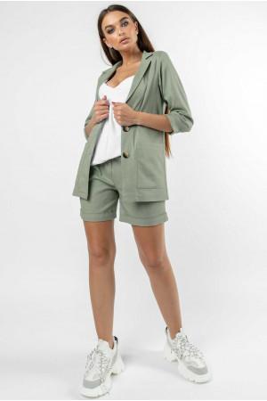 Пиджак «Криспи-лен» оливкового цвета