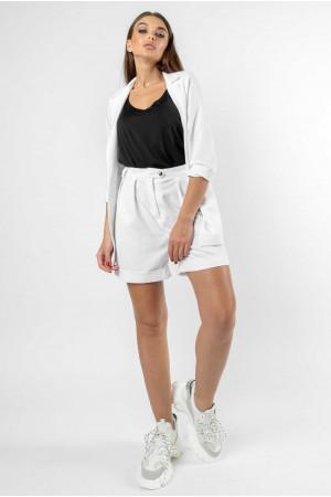 Пиджак «Криспи-лен» белого цвета