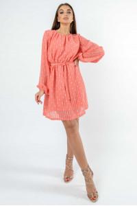 Платье «Даная» кораллового цвета