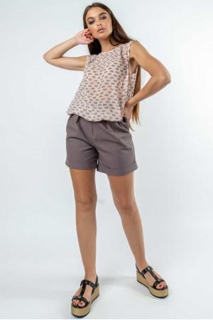 Костюм «Китти-Криспи-шорты» пудрово-лавандового цвета