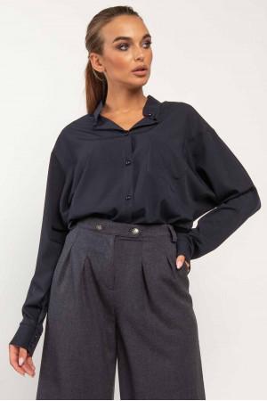 Блуза «Ліора» темно-синього кольору