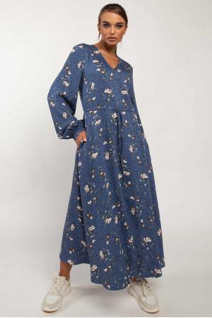 Платье «Несси» синего цвета